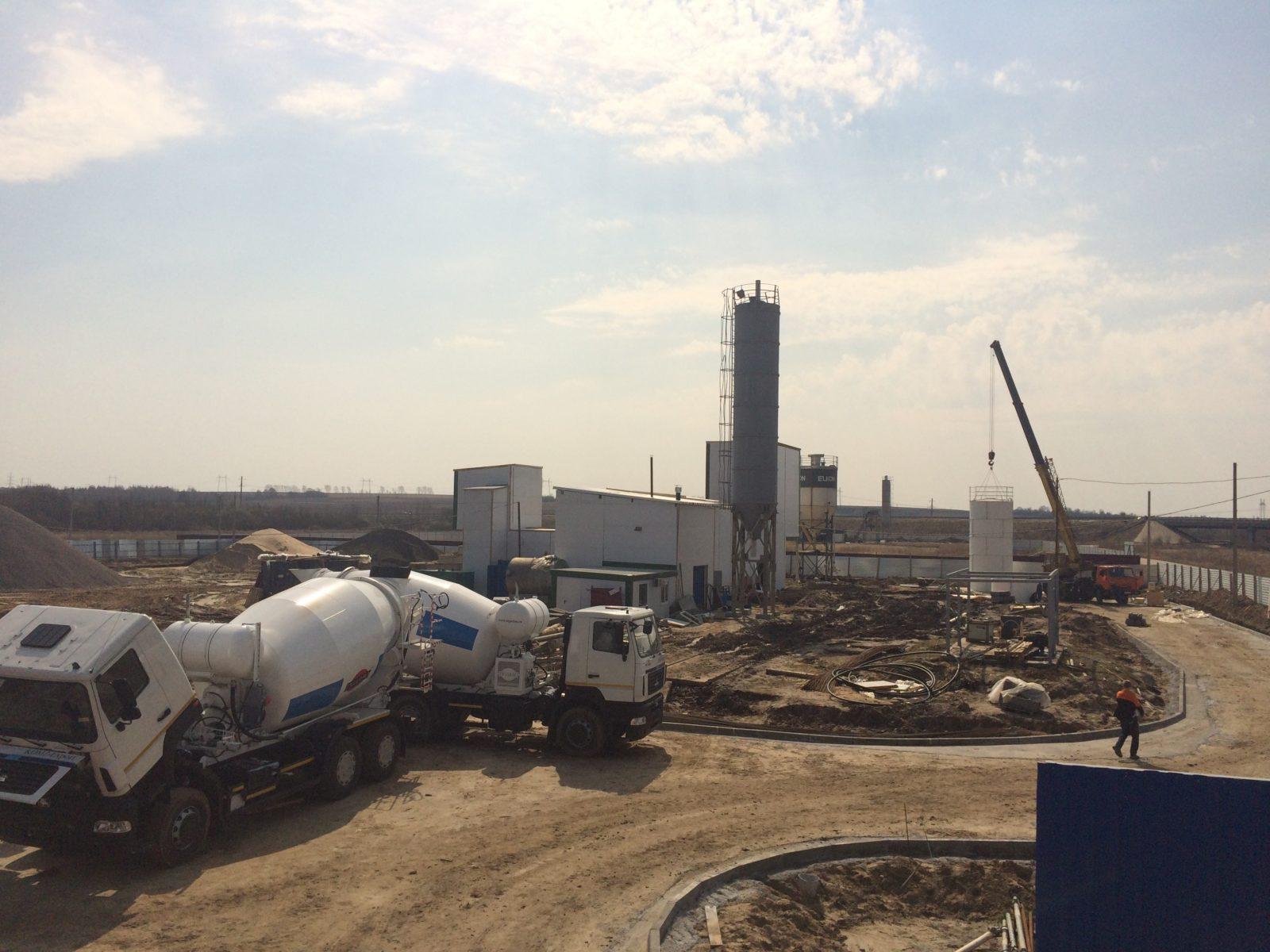 Общий план бетонного завода