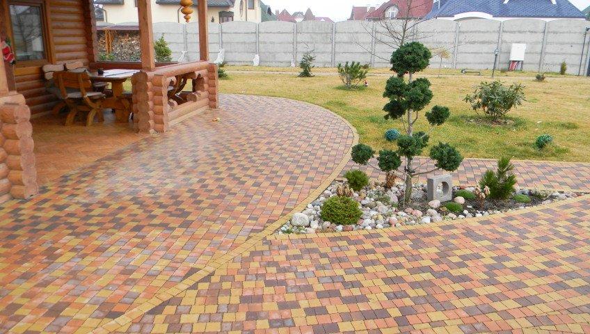 Виды резиновой тротуарной плитки