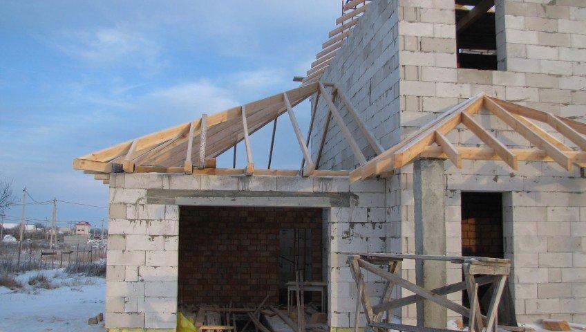 Строительство недорого гаража из шлакоблоков