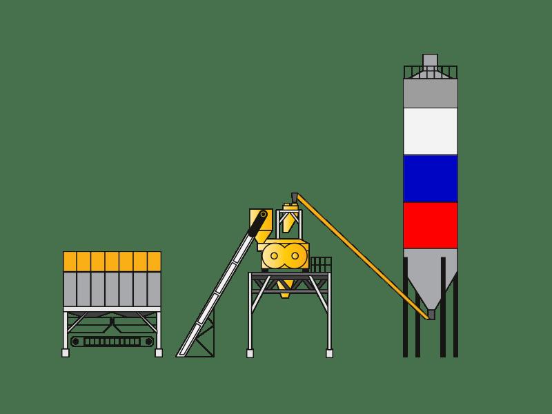 Стационарный бетонный завод TotalMix TS 100