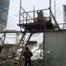 Монтаж каркаса зимней обшивки для бетонного завода